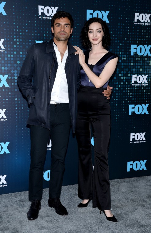 FOX 2017 PROGRAMMING PRESENTATION: L-R: THE GIFTED cast member Sean Teale and Emma Dumont arrive at the FOX ALL-STAR PARTY on Monday, May 15 at Wollman Rink in Central Park, NY. ©2017 FOX BROADCASTING CR: Anthony Behar/FOX.