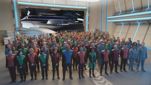 THE ORVILLE:  The crew of The Orville in THE ORVILLE premiering     on FOX.  ©2017 Fox Broadcasting Co.  Cr: FOX