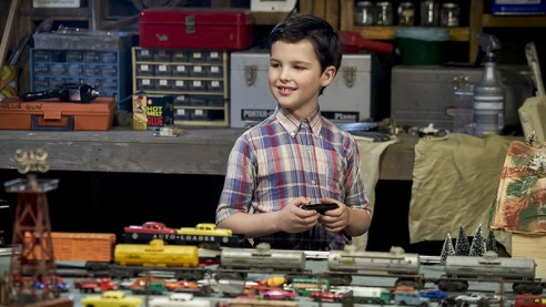 "YOUNG SHELDON is a new half-hour, single-camera comedy, created by Chuck Lorre & Steven Molaro, which follows ""The Big Bang Theory's"" Sheldon Cooper at the age of 9 (Iain Armitage), living with his family in East Texas and going to high school. YOUNG SHELDON will be broadcast in the 2017-2018 season on the CBS Television Network. Photo: Sonja Flemming/CBS ©2017 CBS Broadcasting, Inc. All Rights Reserved."
